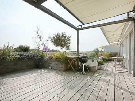 Exklusive, moderne Wohnung im Münchner Westen mit ca. 50 qm Dachterrasse
