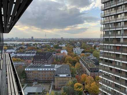 Stilvolle, geräumige und gepflegte 1-Zimmer-Wohnung mit Einbauküche in Barmbek-Süd, Hamburg