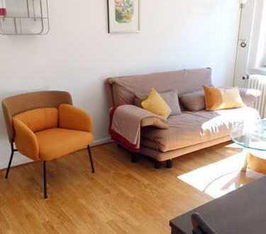 Erstbezug!Helle und möblierte 2 Zimmer Wohnung mit Balkon /neues Duschbad/neue Küche /ab sofort frei