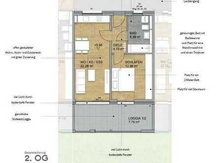 Atelierwohnung mit großem Tageslichtbad und Süd-Loggia (Nr. 9)