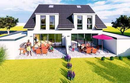 Frei individuell planbare Doppelhaushälfte mit 145m² (schlüsselfertig) in moderner Architektur
