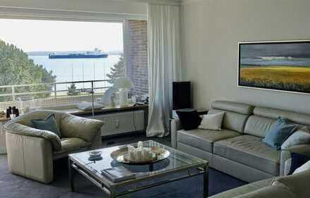 Rarität: Exklusive, großzügig gestaltete Wohnung mit frontalem Meerblick in bester Lage
