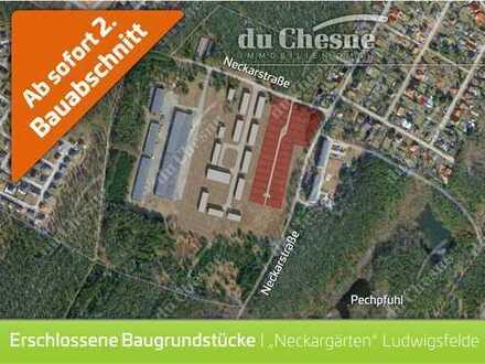 """Ludwigsfelde """"NECKARGÄRTEN"""" - 28 neue Baugrundstücke, offene Bauweise, 480m² - 1.300m²"""