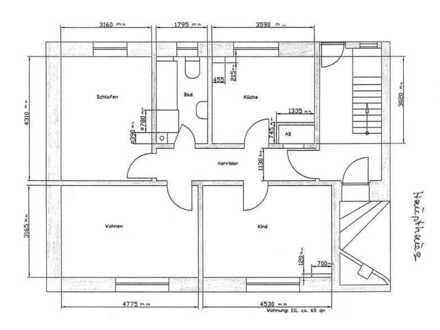 Schöne, gepflegte Wohnung in Viernheim (3 Zimmer, Küche, Bad)