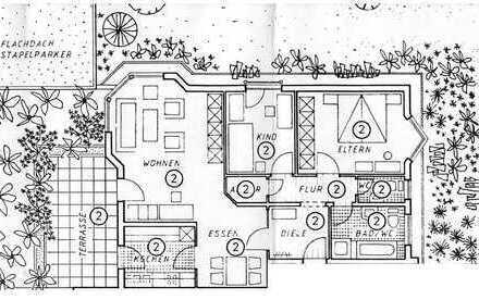 Vollständig renovierte 3,5-Zimmer-Hochparterre-Wohnung mit Südterrasse in Baden-Baden/Haueneberstein
