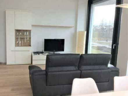 FRIENDS - Exklusiv moblierte 2 Zimmer Wohnung m. Concierge, Gym, Dachterrasse u.v.m.