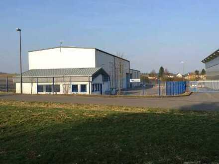 beheizte Lagerhalle 630 m² mit 106 m² Büro in 54552 Darscheid, Autobahnnähe, 20 to Kranbahn
