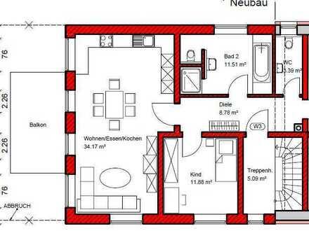 Neuwertige 2-Raum-Wohnung mit Balkon und Einbauküche in Münsterhausen