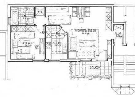 Vollständig renovierte 2-Zimmer-Wohnung mit Balkon in Hanau