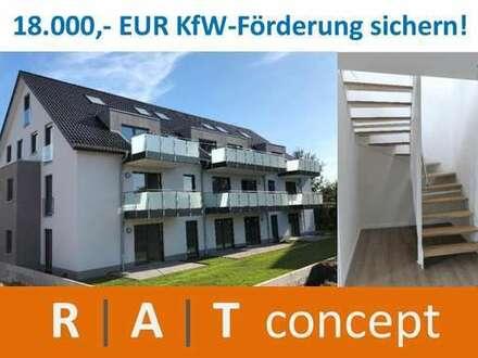 Sonnige 87 m² DG-Maisonette-Wohnung mit Südloggia! / Hollensiek 49 a