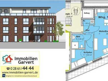 Vermietung - Erstbezug! 2-Zimmer-Penthouse-Wohnung mit Dachterrasse in stadtnaher Lage von Borken