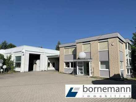 Bürogebäude 315 m² und Lagerhallen 1.280 m² (teils beheizt) + Stellplätze