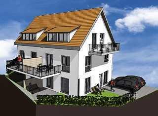 Neubau Doppelhaushälfte in Winnenden