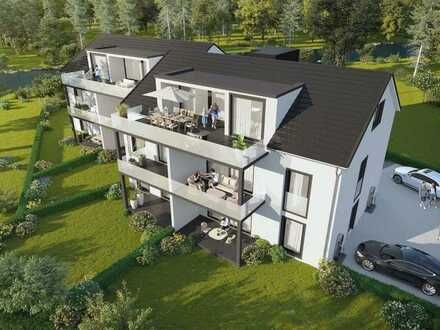Bad Krozingen- Hausen am Ufer der Möhlin. Exklusive Neubau 4-Zimmer Dachwohnung mit Blick