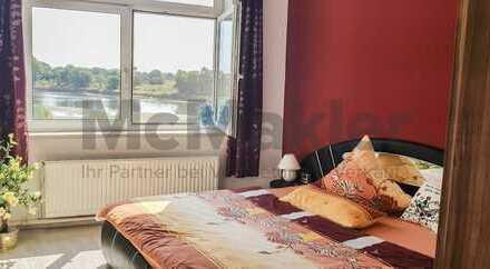 Zentrale Saale-Lage! Charmantes ZFH zum Wohnen und Arbeiten mit schönem Terrassen-Ausblick