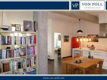 Drei-Zimmer-Loft-Wohnung mit Balkon und Garage im Allerheiligenviertel