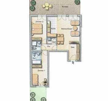 Neubau-Erstbezug! Helle Dreizimmerwohnung mit Terrasse und Garten!