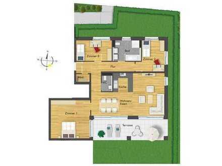 Großzügige 4-Zimmer-Erdgeschosswohnung mit tollem Gartenanteil