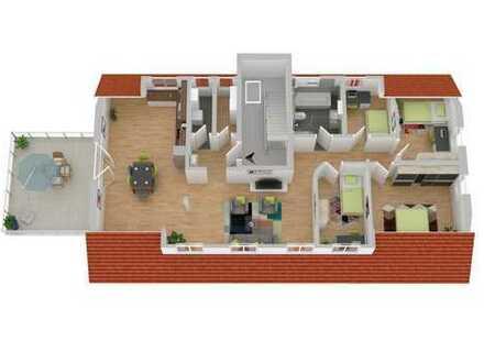 Großzügiger Wohntraum im Neubau-Dachgeschoss mit Terrasse: 5 Zimmer - 129,91 m²