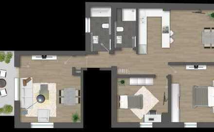 Neue 3,5 Zi.-Eigentumswohnung (1.OG), Altbau + Neubau mit erweiterter Wohnfläche