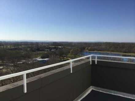 Penthouse mit 60KM Fernblick über die Rheinebene