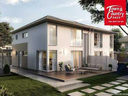 Doppelhaus im Stadtvilla-Stil Modern-Urban -jetzt auch online Beratung bei uns-