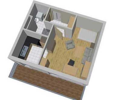 Schöne 1 ZKB Wohnung mit großem Balkon