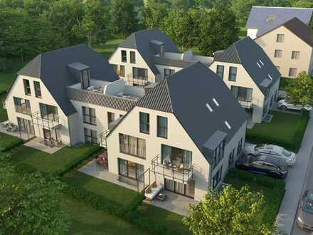 Neubau 4 Zimmer Dachgeschoss Maisonette Wohnung mit Südbalkon und ca. 22qm Dachterrasse