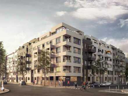 Erstbezug mit Balkon, Küche und Tiefgarage: helle 2-Zimmer-Wohnung in Weißensee