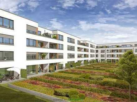 Neubau, 2-Z-Terrassen-Wohnung mit Sonne und Blick auf den begrünten Dachgarten