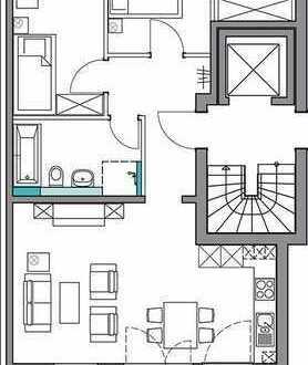 Lichtdurchfutete 3-Zimmer-OG-Wohnung mit Balkon in Planung, Stuttgart-Rohracker
