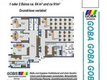 Lu City ab 3/2017 2 Büros - 84m²+91m² ca.175 m²Grundriss n. Wunsch Büro-/Praxisräume Bürohaus