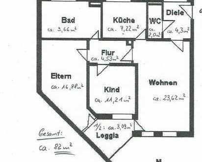 Gepflegte 3-Zimmer-Wohnung mit Loggia und Aufzug in Königsbrunn