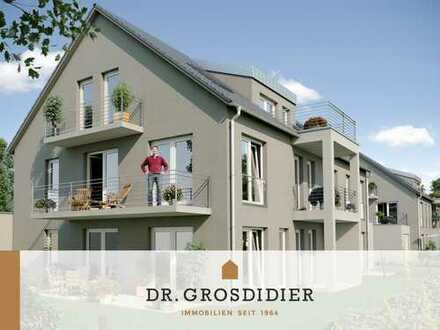 Dr. Grosdidier: Sonnige 4-Zi.-Garten-Whg. mit zwei Terrassen! Neubau! Erstbezug!