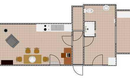 Erstbezug nach Sanierung: attraktive 2-Zimmer-Wohnung mit Einbauküche in Friesenheim