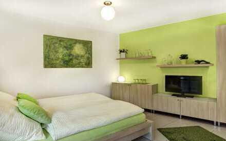 Möblierte 1-Zi.-EG-Wohnung mit Terrasse und Einbauküche in Regensburg-West