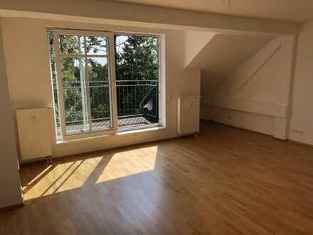 Schöne, helle 3-Zim Dachgeschosswohnung mit Dachterrasse, Parkett und Einbauküche