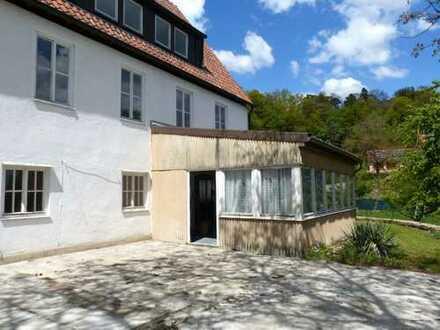 SOFORT freies + stark renovierungsbedürftiges Wohnhaus mit 5 Wohneinheiten + 4.000 qm BAUPLATZ