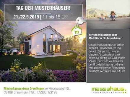 Tag der Musterhäuser am 21 & 22.09. von 11-16 Uhr im Musterhaus Cremlingen