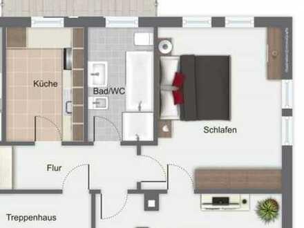 Freundliche 2-Zimmer-Wohnung mit Balkon und Einbauküche in Weilheim an der Teck