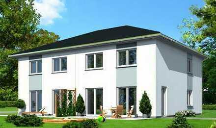 Neubau einer zweigeschossigen Doppelhaushälfte in Iserbrook