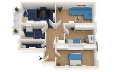Weststadt 3 Zimmerwohnung im Jugendstilhaus