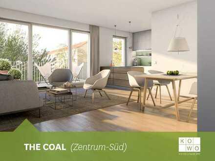 NEUBAU IM ZENTRUM-SÜD: Exklusive 2-Zimmer-Wohnung mit Balkon im 1.OG!