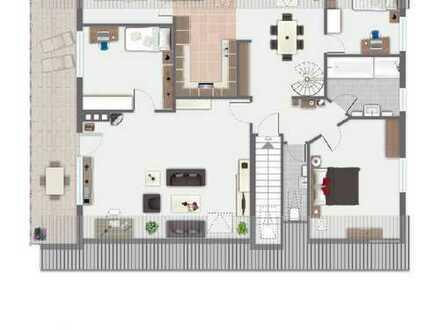 Gepflegte 6-Zimmer-Maisonette-Wohnung mit Balkon, 2 Bäder, WC und EBK in Overath-Landwehr