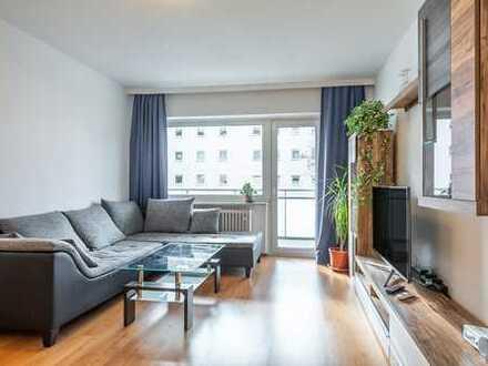 Schicke, vollständig möblierte 2-Zimmer-Wohnung mit Balkon und Einbauküche - direkt bei BMW