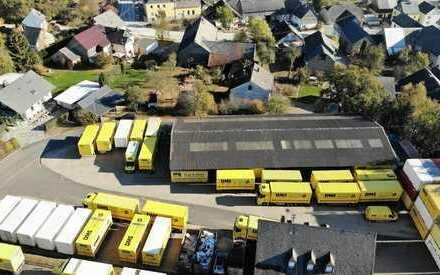 8.380 m² ! 2 Hallen: 1.590m²! 2.000 m² Stellplatz +160 m² Garagen + 350 m² Büro-/Wfl.!