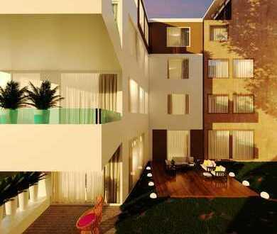 Moderne neue Penthouse-Wohnung mit großer Terrasse