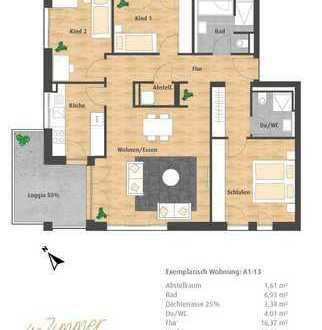 Neue 4-Zimmer-ETW mit Loggia und Dachterrassse im Hatz-Areal - Das Tor zur Innenstadt