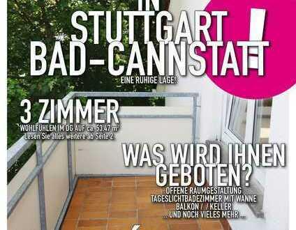Stuttgart Bad-Cannstatt - Nette 3-Zimmer-Dachgeschoß-Wohnung