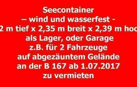 Schuster & Preuß - Seecontainer 40 Fuss, als Lager, oder Garage auf abgezäunter Freifläche in Zer...